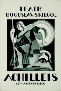 andrzej pronaszko, achilleis st. wyspiańskiego. teatr bogusławskiego, 1925