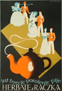 franciszek seifert już trzecie pokolenie pije herbatę z rączką, (1936)