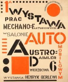 henryk berlewi wystawa prac mechano-fakturowych w salonie automobilowym austro-daimler (...), 1924
