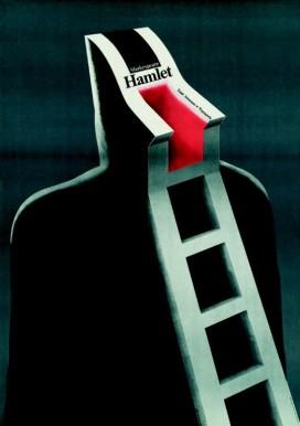 wiesław rosocha hamlet. shakespeare. teatr ateneum w warszawie, 1983